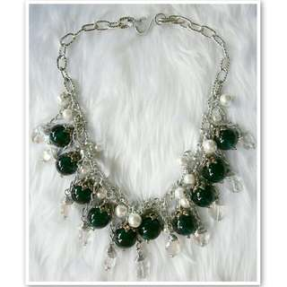 Winter Emerald Necklace