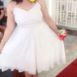 White Semi formal Elegant Dress