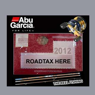 Road Tax Sticker - Abu Garcia (BLACK)