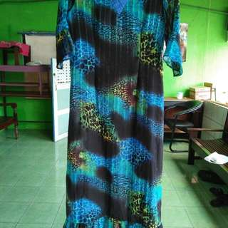 Dress preloved warna biru laut