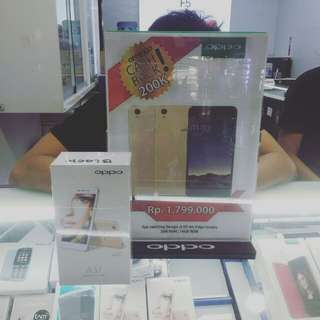 Oppo A37 Gold and Black