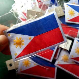 Phillipine Flag Patches,Computerized Embroidered,Nice Detail,Makinis
