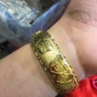 Plated 24k gold 電鍍金 龍鳳鈪
