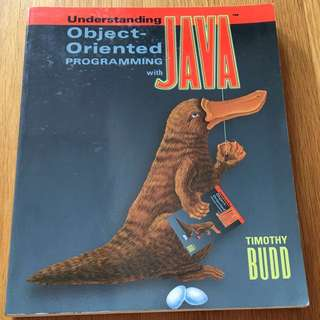 Understanding Object-Oriented Programming with Java by Timothy Budd (paperback)