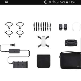 DJI Spark with remote and extra battery