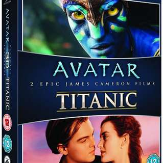 BN Sealed Authentic Avatar and Titanic 3D Set