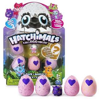 BNIB: Hatchimals CollEGGtibles Season 2 - 4-Pack + Bonus (Styles & Colors May Vary) by Spin Master
