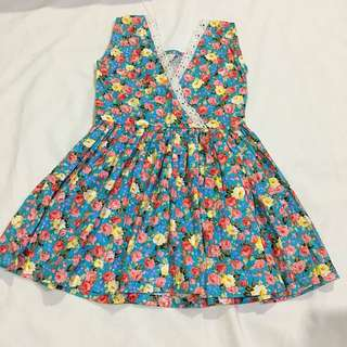 Reversible Floral Dress