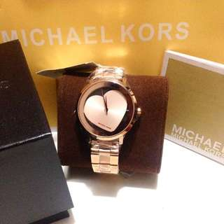 MK Heart Jaryn rosegold watch