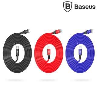 Type-C to Lightning充電線 BASEUS 藝紋 200cm高速快速叉電線 數據傳輸線GSA0014A