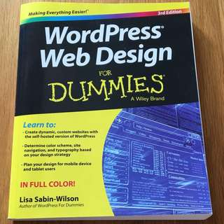 WordPress Web Design For Dummies by Lisa Sabin-Wilson (paperback, 3rd Edition)