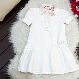 Seed white dress (size:7)
