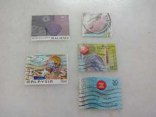 Malaysia Stamps Lot of 5 #105