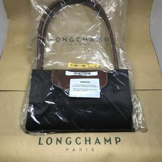 Bnew Authentic Longchamp Le Pliage Brown Large Handle Tote