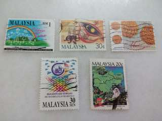 Malaysia Stamps Lot of 5 #108
