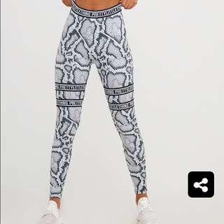 NEW Pretty Little Thing snake print gym leggings