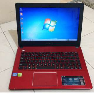 Laptop Asus A450C Corei3 Ram 2GB Hdd 500GB Nvidia GeForce GT 720M 2GB