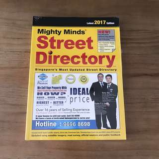 Singapore Street Directory 2017 Edition - Brand New, Unopened