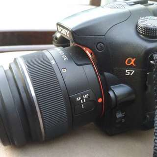 Sony A57 DSLR with Tripod and camera bag