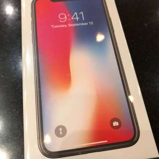 iPhone X 256GB Space Gray new in box