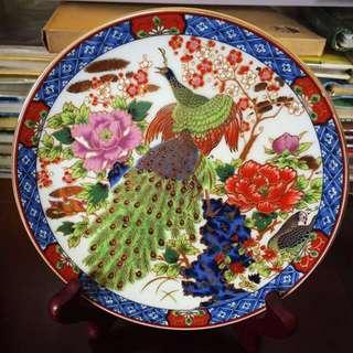Japanese Plate- Peacock