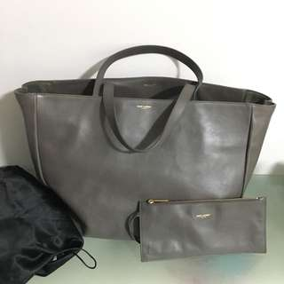 可交換 YSL Saint Laurent leather tote bag