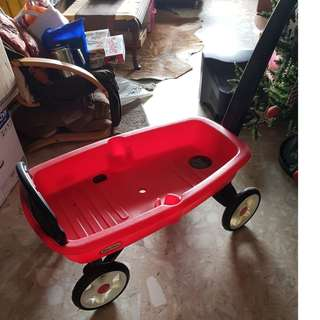 Red Little Tikes Push Toy Cart