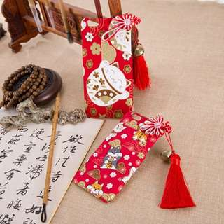 Limited! Handmade Fortune Cat iPhone Case with Bell and Tassel Strap
