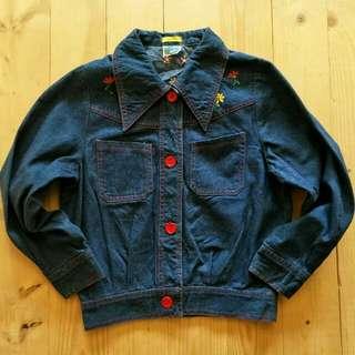 Jaket jeans anak Elysian  5 - 6 tahun LD 43cm Panjang 46cm  65ribu  Sapa cepat dia dapat😍
