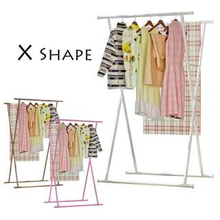 X Shape Cloth Hanger Garment Organizer Steel Rack