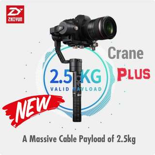 Zhiyun Crane Plus Gimbal- Ready Stock! Local 1 year Warranty!