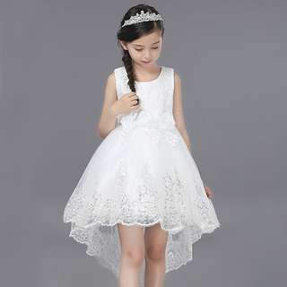Pretty Sequins High-low Flower Girl Birthday Dress Gown