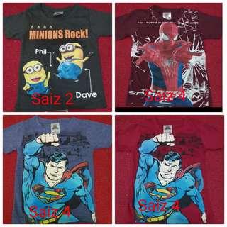 Baju T-Shirt kanak - kanak
