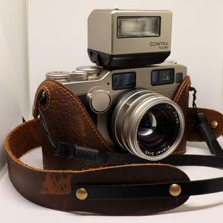 Funper Leather Camera Case & strap for your Contax G2