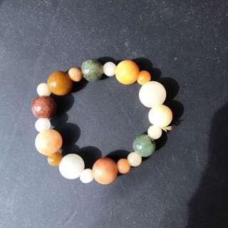 A jade/stone bracelet