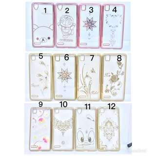 Case Jelly Gold Oppo F1