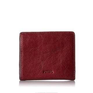 Fossil wallet maroon