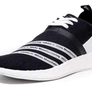 """adidas NMD R2 PK """"White Mountaineering"""" BLK/WHT"""