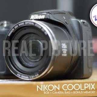 Nikon coolpix L320 second free bag and memory