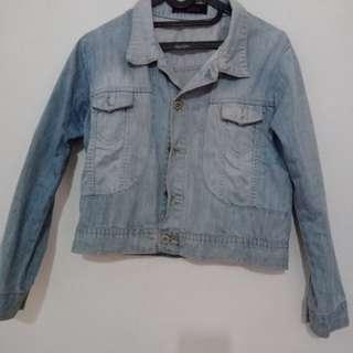 Jaket Jeans Biru awas