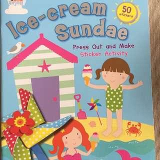 Ice Cream Sundae Sticker Activity