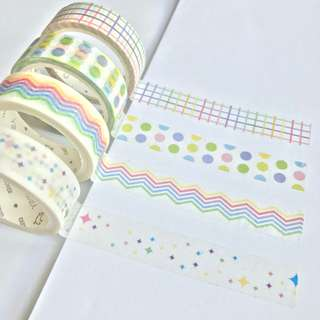 Washi Tape Sample - Colour Series White