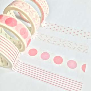 Washi Tape Sample - Colour Series Pink