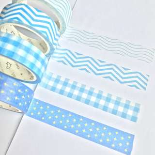 Washi Tape Sample - Colour Series Blue