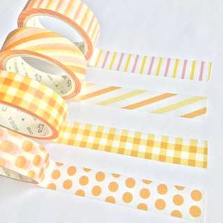 Washi Tape Sample - Colour Series Orange