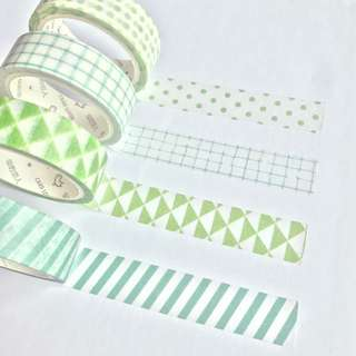 Washi Tape Sample - Colour Series Green