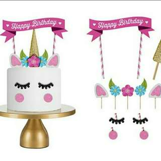 Last set! Unicorn Cake Topper