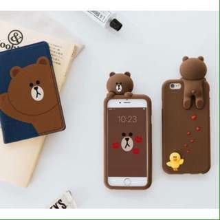Silicon 3D Brown Standing Case For Oppo