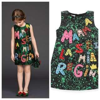 Alphabet girl dress size 100-150