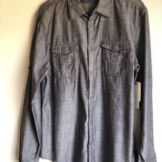 Calvin Klein Grey Button Up Shirt